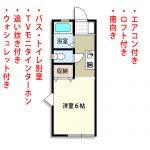 蛍田駅2分 ロフト付ワンルーム 39,000円 画像1